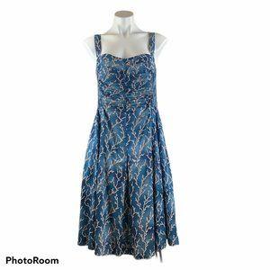NEW HD In Paris Anthro Blue Reef Sun Dress Retro